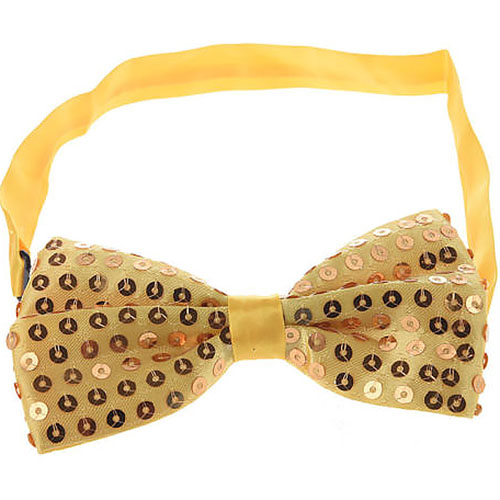 Sequin Bow Tie (Gold)