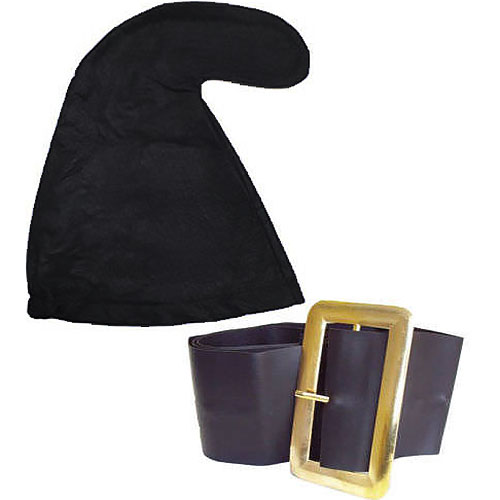 Black Smurf Hat And Belt Set