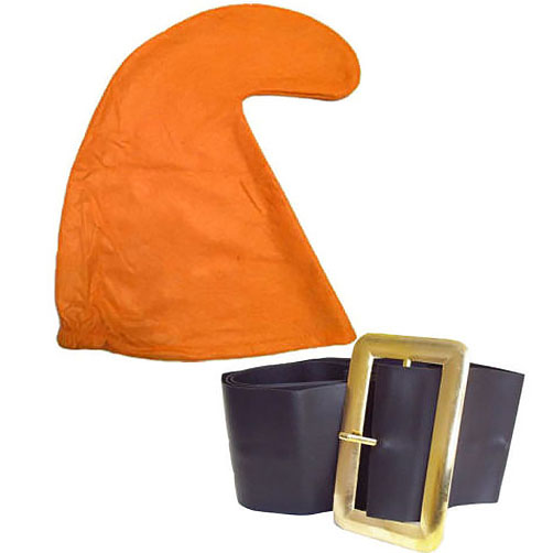 Orange Smurf Hat And Belt Set
