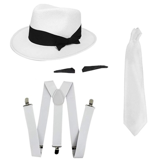 4pc Gangster Set (White)