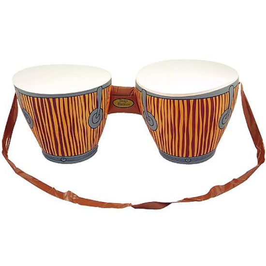Inflatable Bongo Drum With Strap