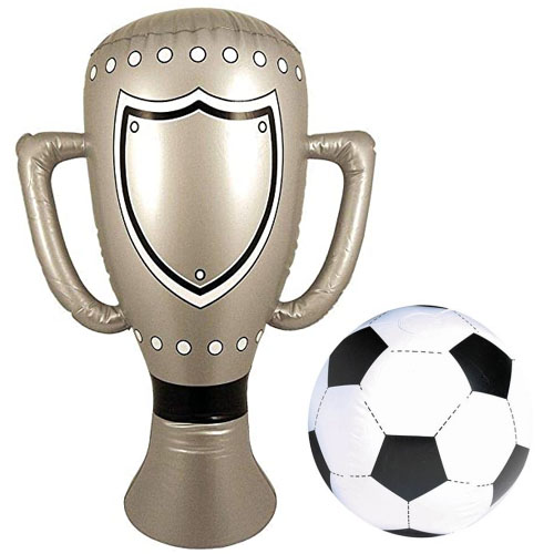 Inflatable Football And Trophy Set