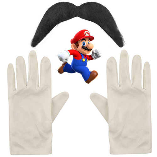 Gloves And Moustache Set