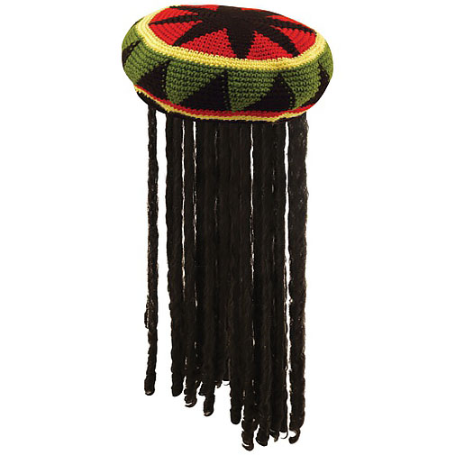 Deluxe Jamaican Hat With Hair