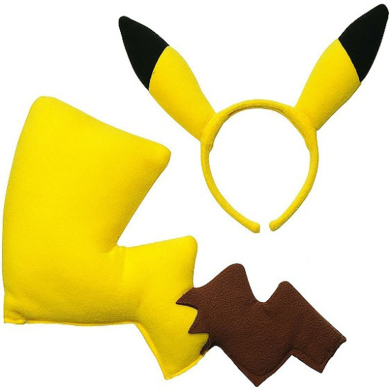 Pikachu 2pc Ears And Tail