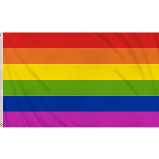 Gay Pride Rainbow Flag (5ft x 3ft)