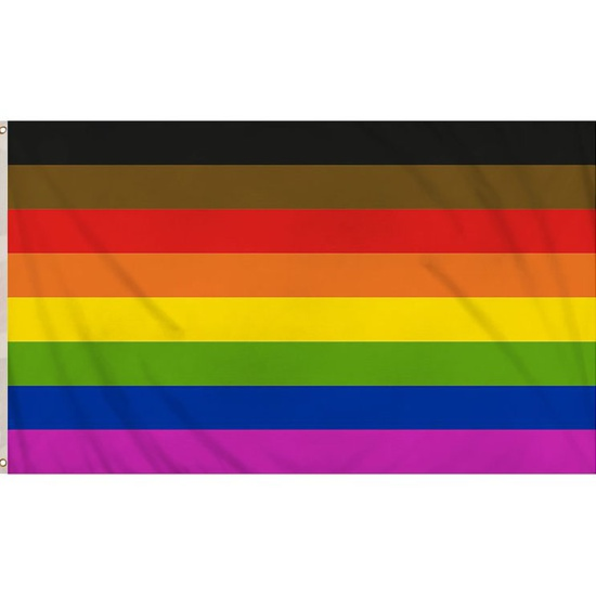 8 Colour Gay Pride Flag (5ft x 3ft)