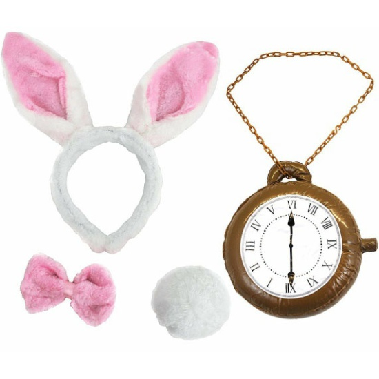 Bunny Set With Clock (Pink)