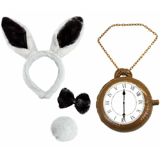 Bunny Set With Clock (Black)