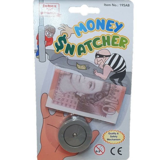 Money Snatcher with Fake £10 Note