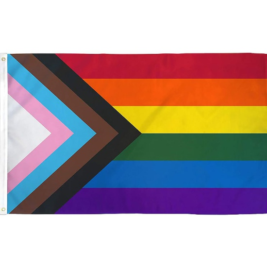 Progress Pride Flag  (5ft x 3ft)