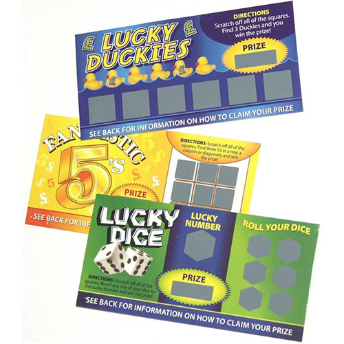 Fake Joke Lottery Scratch Cards
