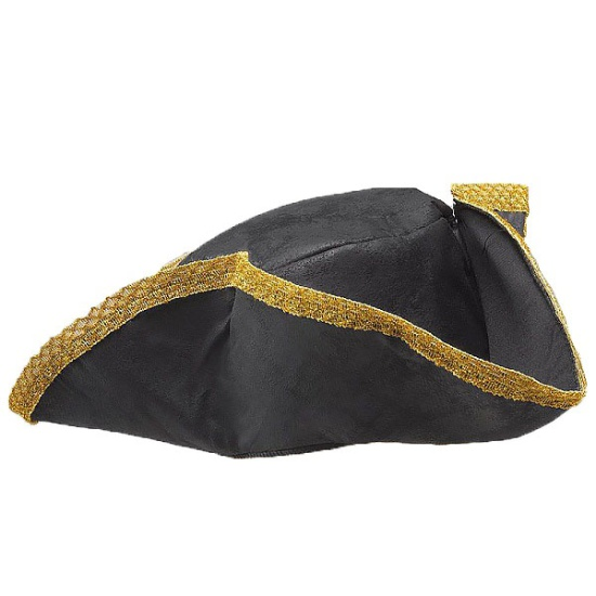 Black & Gold Pirate Hat
