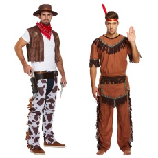 Mens Cowboy & Indian Costumes